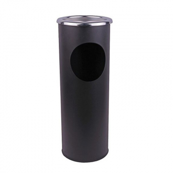 Combined Ashtray Stand & Litter Bin Black 101671