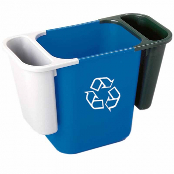 Deskside Recycling Bin Blue