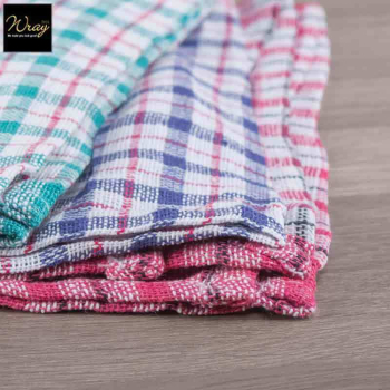 Chequered Tea Towels x 10