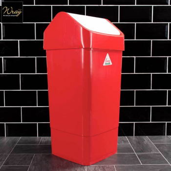 Slimline Swing Bin Red