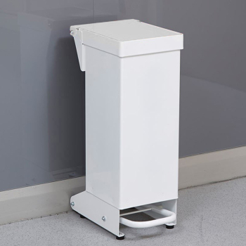 18L Fire Retardant Pedal Bin Enclosed with White Lid