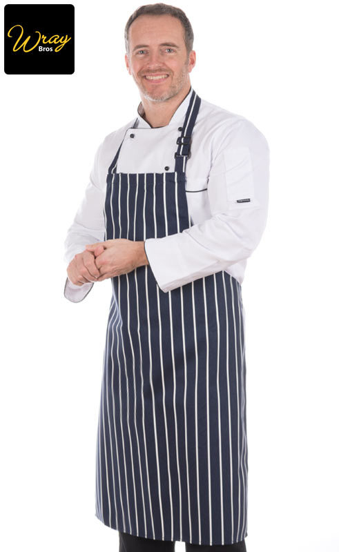 Blue Striped Butchers Apron S839