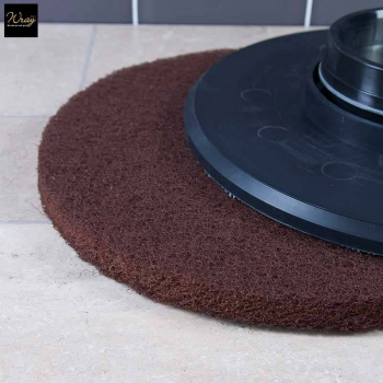 Brown 15 inch Rotary Floor Pad