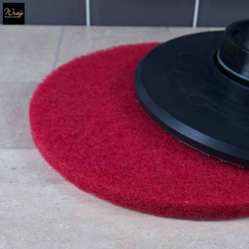 Red 15 inch Rotary Floor Pad