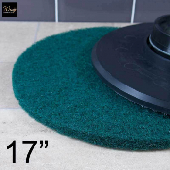 Green 17 inch Rotary Floor Pad