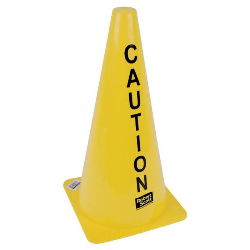 Yellow Caution Safety Cone