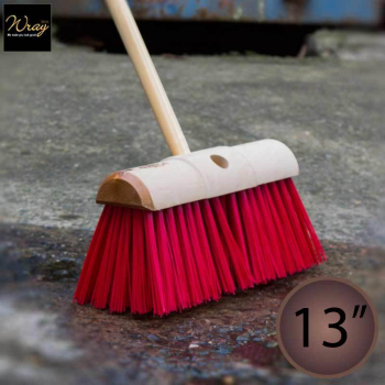 Yard Brush 13'' Red PVC