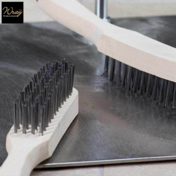 Wire Brush 4 Row Wooden Handle