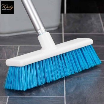 275mm Stiff Lightweight Catering Sweeping Broom B1059 Blue