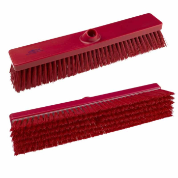 457mm Hygiene Stiff Platform Broom Head B994 Red