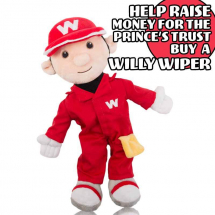 Willy Wiper Mascot & The Prince's Trust