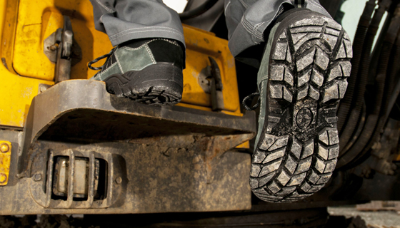 Footwear Tread on safety shoes